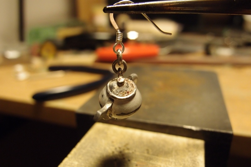 Boucles d'oreilles Tasse et Théière Pb222112