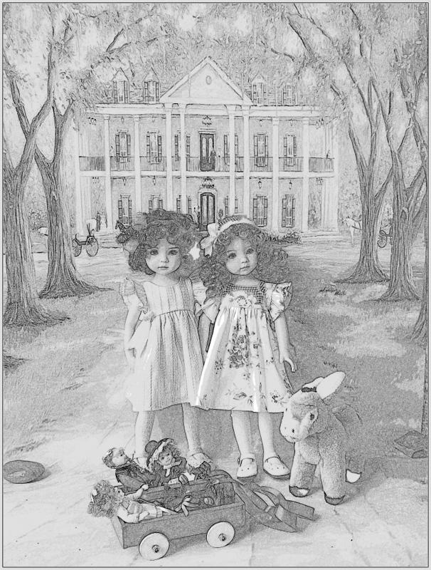 """Mes """"princesses  et leur maison de poupées  Robes blanches P3 P1700136"""