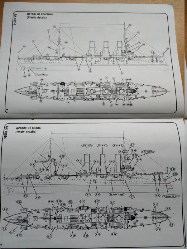 Kreuzer Aurora in 1/400 Ark Models 910