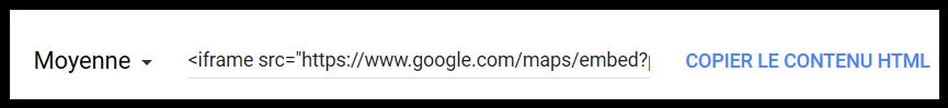 """Comment intégrer une """"google Maps"""" dans un message ? Screen29"""