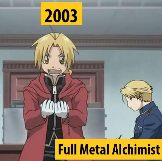 Quel anime célèbre a débuté l'année de votre naissance 2003-f10