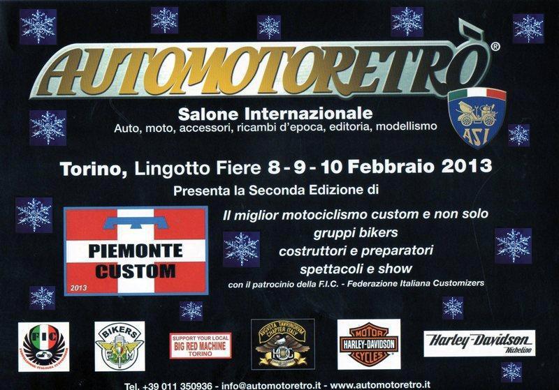 """8-9-10 Febbraio """"Automotoretrò""""  Torino Torino10"""