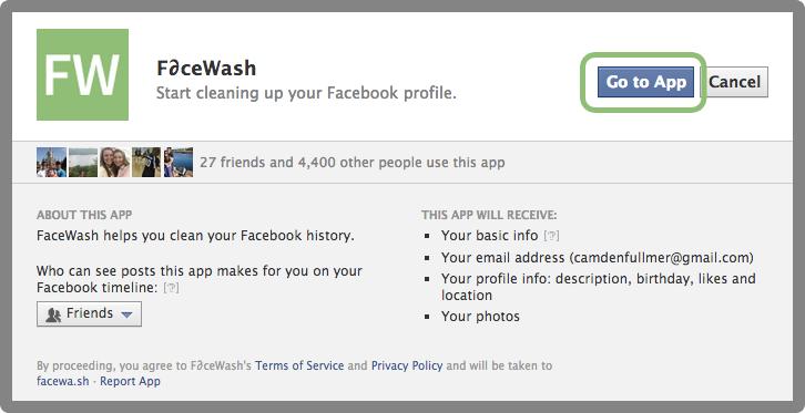 "FaceWash Beta - ""Kαθαρίστε"" το Facebook σας Gotoap10"