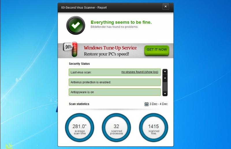 Bitdefender 60-Second Virus Scanner 1.0.3.76 - Γρήγορη και αξιόπιστη ανίχνευσης ιών Img3fi10