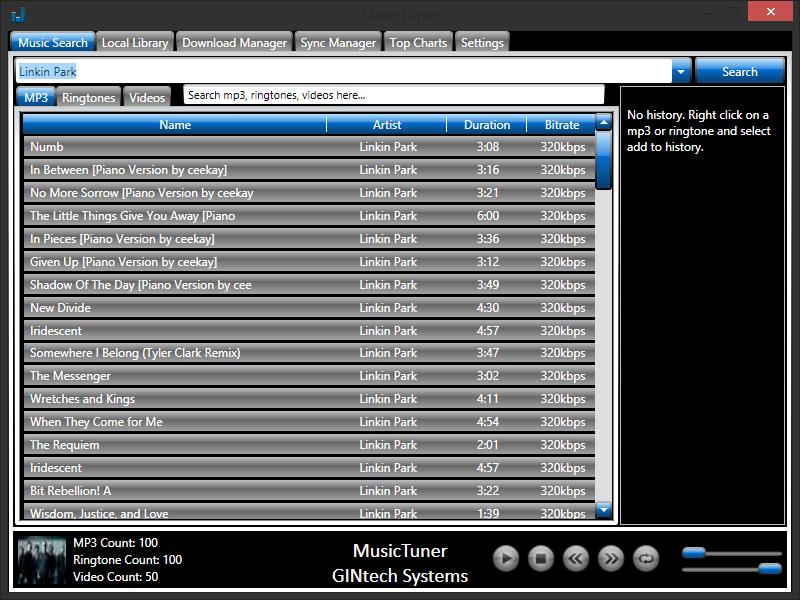 MusicTuner 8.0.0.4 - Κατεβάστε και ακούστε τραγούδια  Mtpicw10