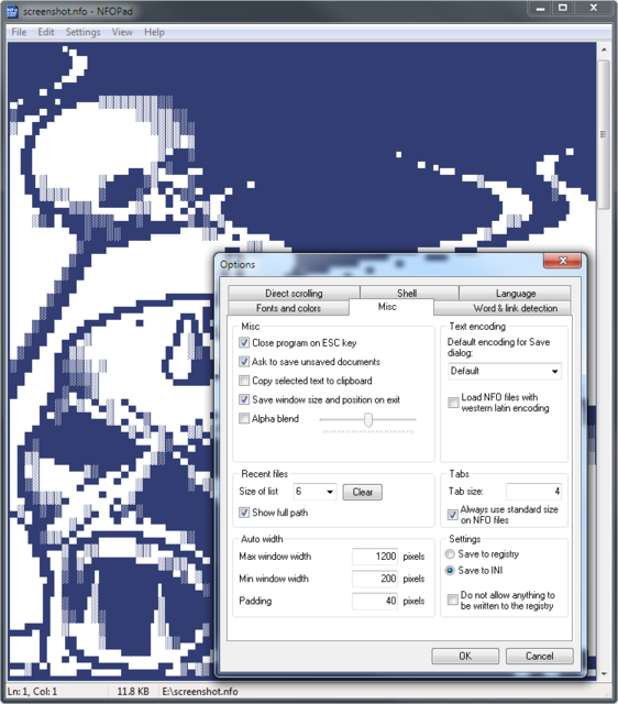 NFOPad 1.74 - Ο κλώνος του σημειωματαρίου της Microsoft, αλλά με επιπλέον ρυθμίσεις! Nfopad10