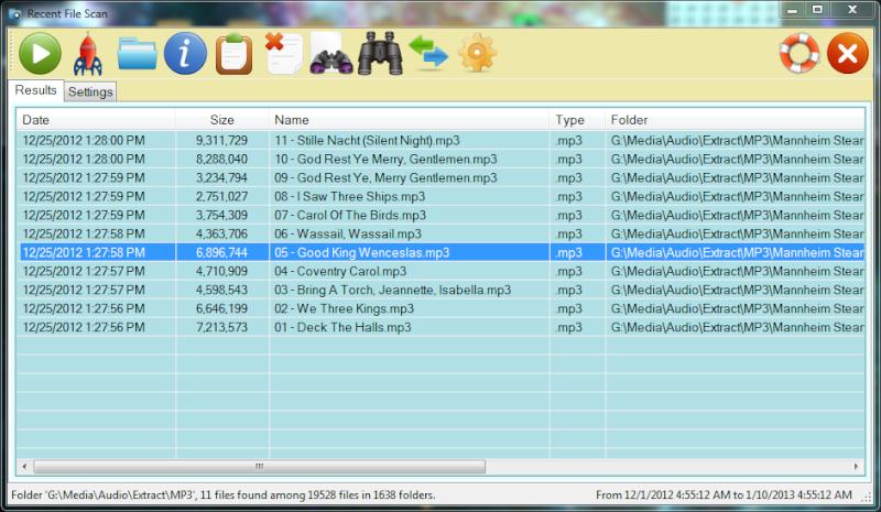 Recent File Scan 1.4.101.0 - Σαρώστε και να παρακολουθήστε για αλλαγές στα αρχεία του συστήματος σας Rfmain10