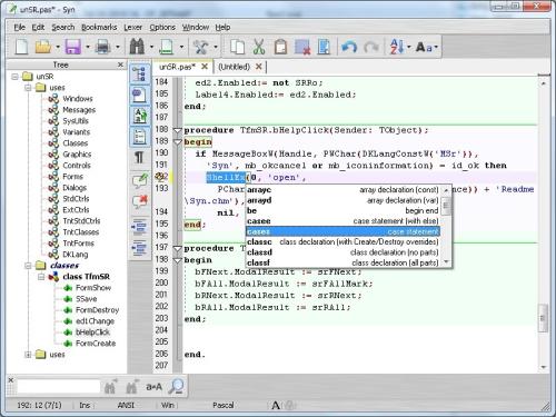 SynWrite 4.6.550 - Ένα πρόγραμμα επεξεργασίας κώδικα για να σας βοηθήσει με την εργασία σας Wlx_sy10