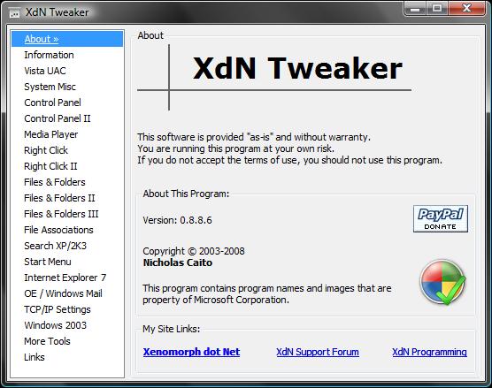XdN Tweaker 0.9.3.0 Xdn_tw10