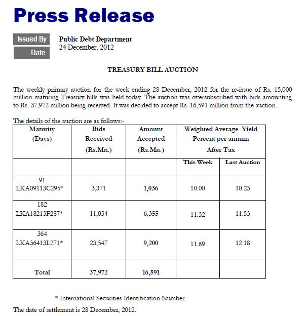 CBSL - Press Release - TB Tb10