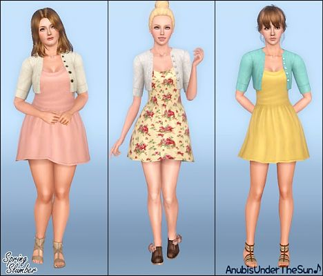 Spring Slumber - Dress with cardigan by Anubis Sims3u11