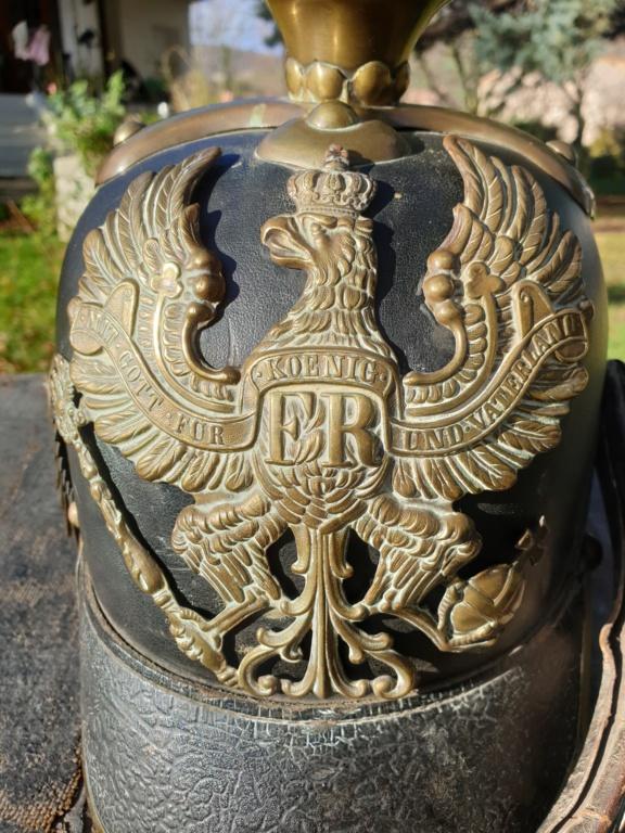 L'allégorie par excellence du terrible prussien : Casque à pointe modèle 1860.  20201217