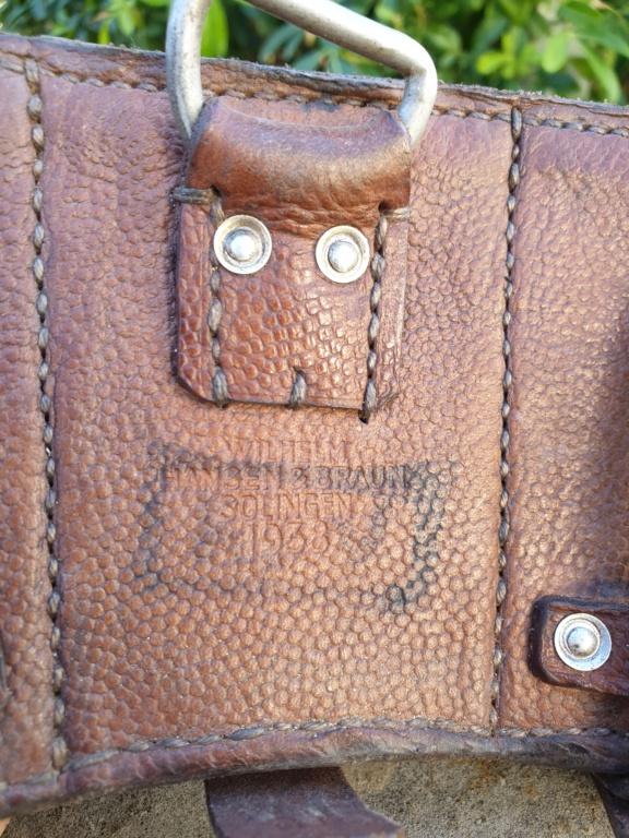 ENSEMBLE Ceinturon Boucle Cartouchières allemand ww2 1938 , R.F.V. !! 20210221