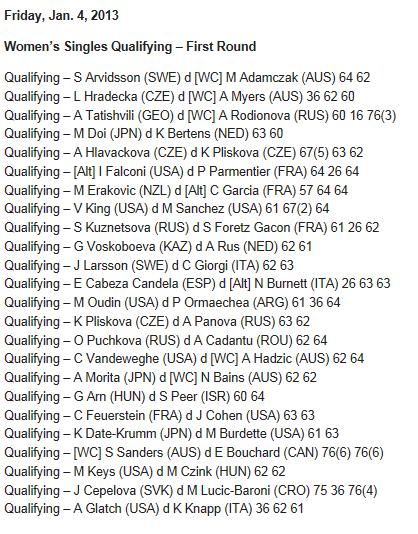 WTA SYDNEY 2013 : infos, photos et vidéos  Captur37