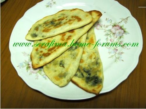 Лепешки с зеленым заатаром и оливковым маслом. Арабская кухня Zaatar10