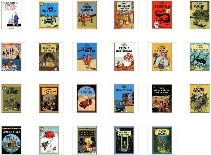 Les albums de TINTIN et MILOU Tintin10