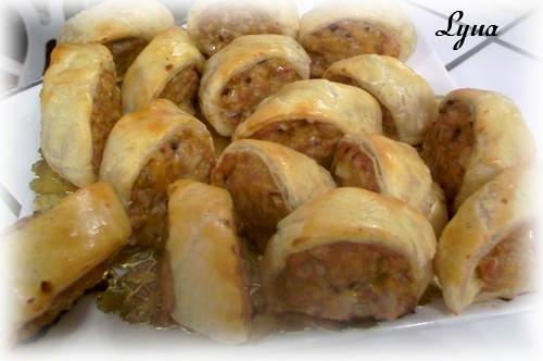 Bouchées de saucisse en pâte feuilletée Boucha15