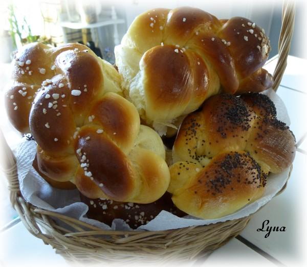 Petits pains briochés et tressés (batteur sur socle) Petits19