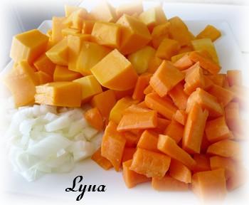 Crème à la courge butternut, carottes et poires Potage10