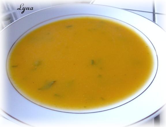 Crème à la courge butternut, carottes et poires Potage11