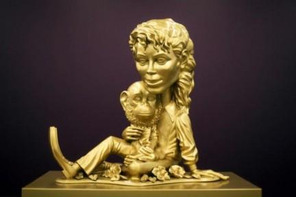 La statua di Koons è attualmente esposta a New York  Bubble10