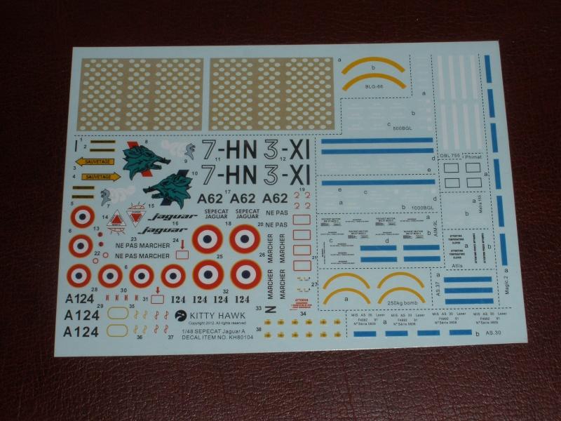Revue de kit SEPECAT Jaguar-A 1/48 KittyHawk P1160234