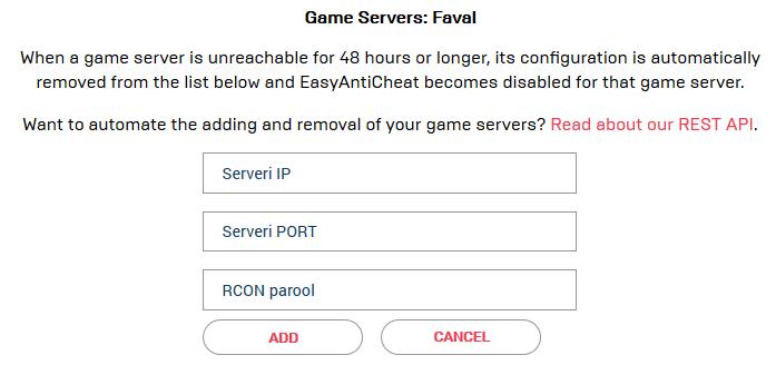 EAC serverite võtmine Faval11