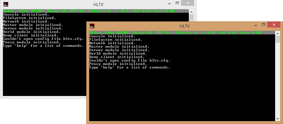 HLTV kasutamine ja mitme avamine Hl10