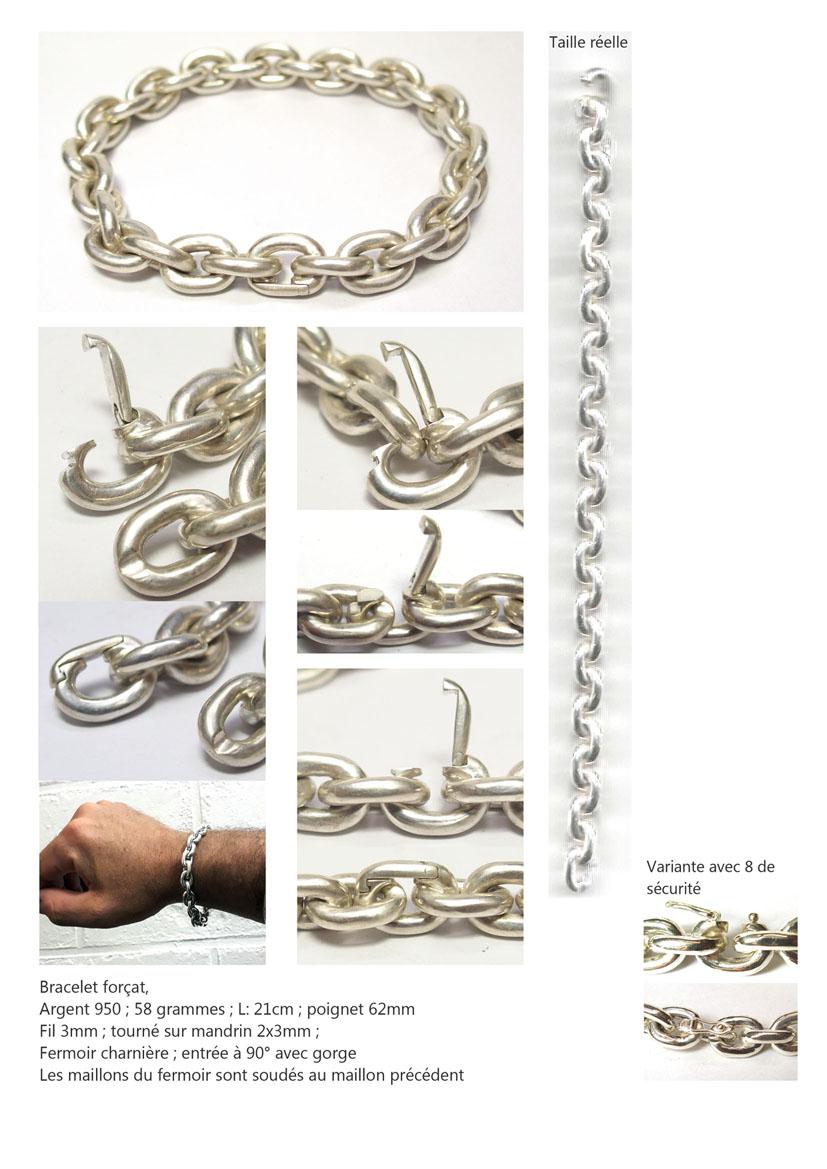 Bracelet chaine forçat Bra_fo10