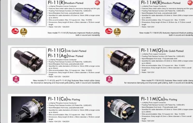Furutech FI-11 [Cu]/(G)/(R) IEC & FI-11M AC Connector(New) Image16