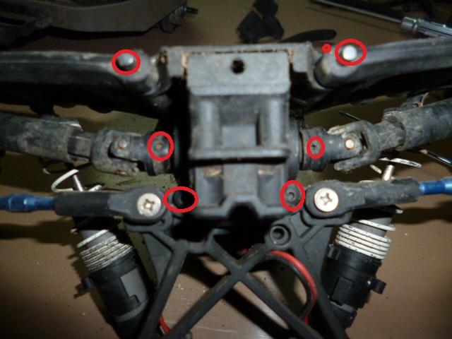 Slash/Stampede 4x4 - Tuto demontage diff arrière P1000323
