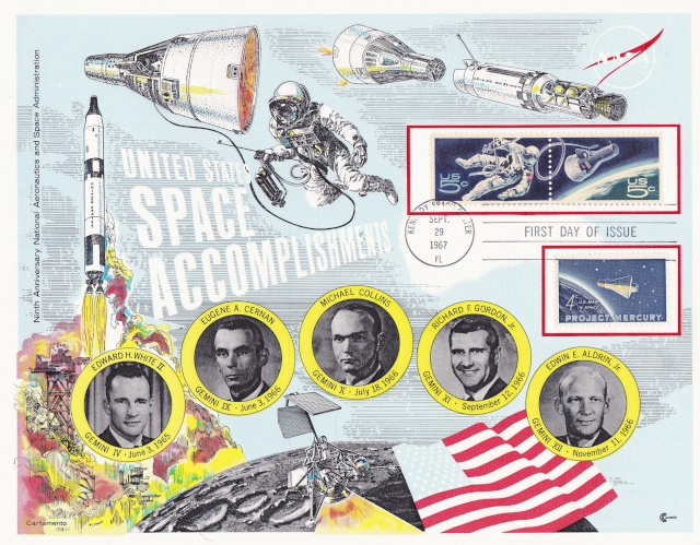 Philatélie Spatiale USA - 1967 - Projet Gemini 1967_013