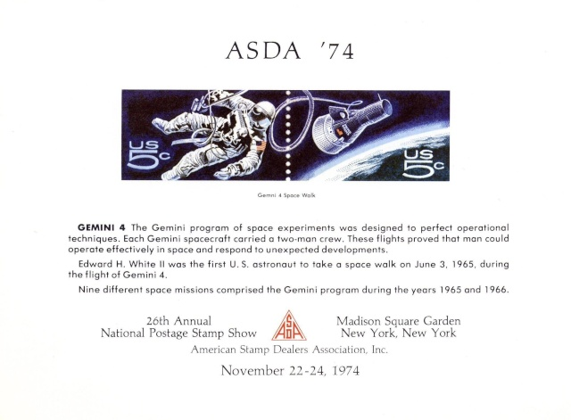 Philatélie Spatiale USA - 1967 - Projet Gemini 1974_110