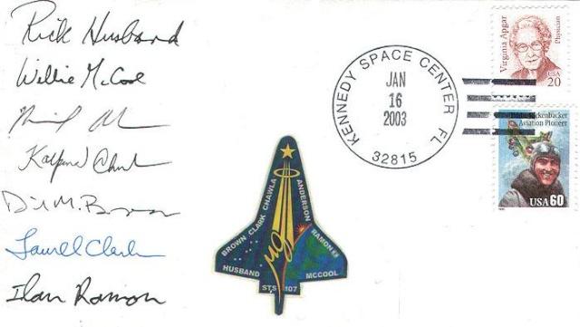 Astrophilatélie - La mission STS-107 Columbia - 10 ans déjà 2003_010