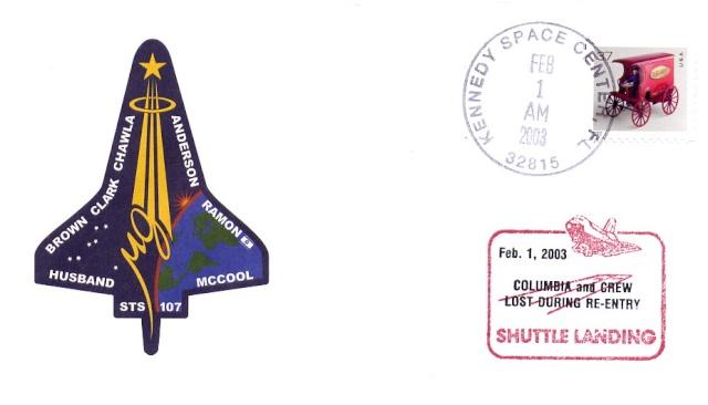 Astrophilatélie - La mission STS-107 Columbia - 10 ans déjà 2003_015
