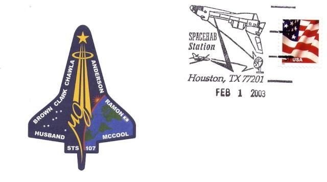 Astrophilatélie - La mission STS-107 Columbia - 10 ans déjà 2003_016