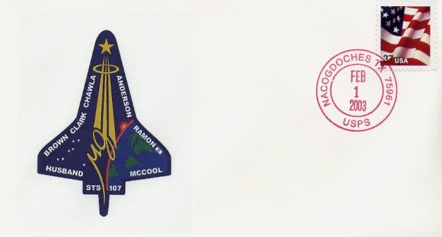 Astrophilatélie - La mission STS-107 Columbia - 10 ans déjà 2003_017