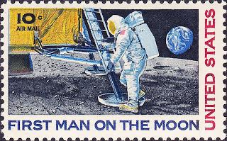 Philatélie Spatiale USA - 1969 - Timbre Apollo 11 800px-12