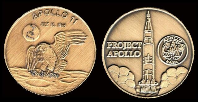 Les médailles commémoratives officielles de la NASA - Partie 3 / Programme Apollo Apollo22