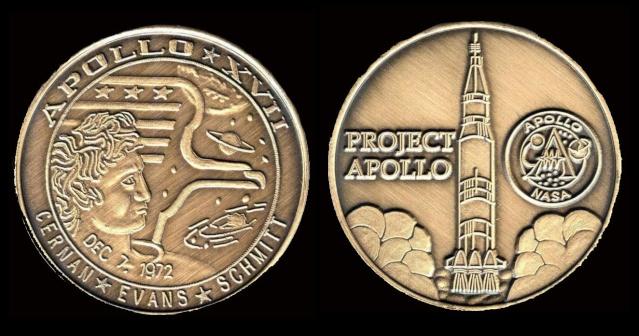 Les médailles commémoratives officielles de la NASA - Partie 3 / Programme Apollo Apollo28