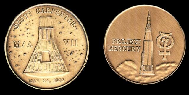 Les médailles commémoratives officielles de la NASA - Partie 1 / Programme Mercury Aurora10