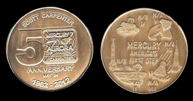 Les médailles commémoratives officielles de la NASA - Partie 1 / Programme Mercury Aurora11