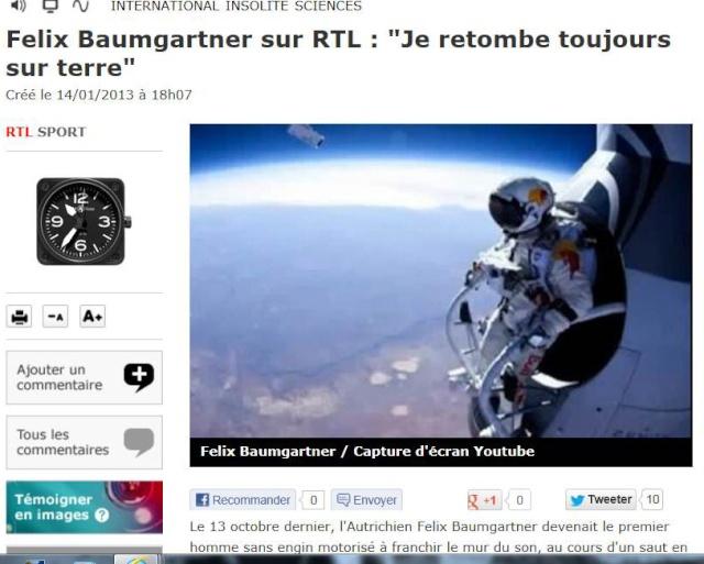 Felix Baumgartner sur RTL aujourd'hui Captur12