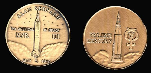 Les médailles commémoratives officielles de la NASA - Partie 1 / Programme Mercury Freedo11