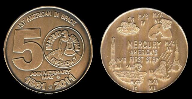 Les médailles commémoratives officielles de la NASA - Partie 1 / Programme Mercury Freedo12