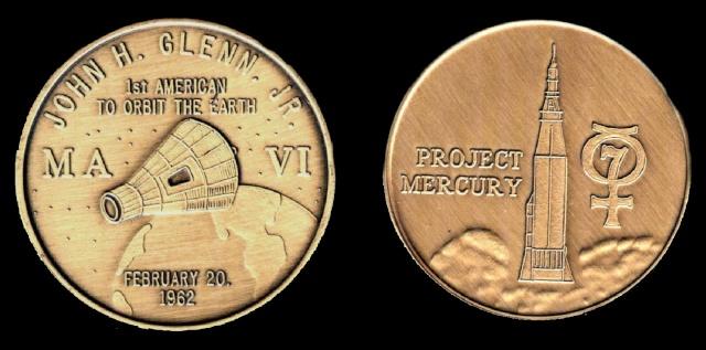 Les médailles commémoratives officielles de la NASA - Partie 1 / Programme Mercury Friend10