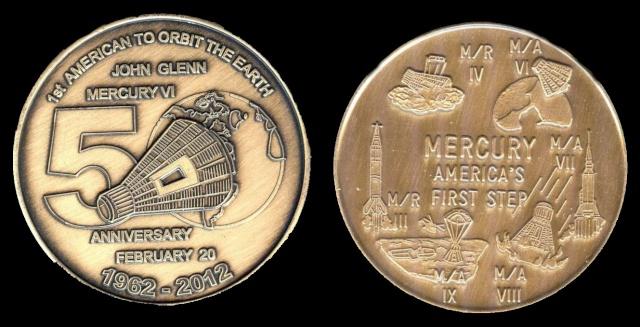 Les médailles commémoratives officielles de la NASA - Partie 1 / Programme Mercury Friend11