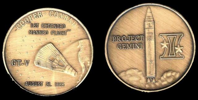 Les médailles commémoratives officielles de la NASA - Partie 2 / Programme Gemini Gemini12