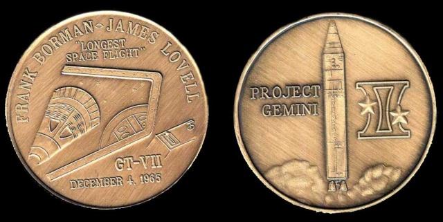 Les médailles commémoratives officielles de la NASA - Partie 2 / Programme Gemini Gemini13