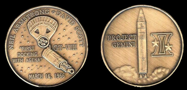 Les médailles commémoratives officielles de la NASA - Partie 2 / Programme Gemini Gemini15